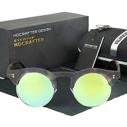 YanFa Sunglasses Frau, Sonnenbrille, lässig, Mode, Retro, elastisch, im Freien, grün, S52894