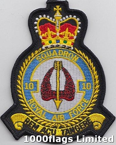 Nr. 10, Squadron RAF Royal Air Force Emblem Patch, gestickt -