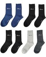 8 Paar s.OLIVER Kindersocken Strümpfe, schwarz+navy blau+grau+schwarz