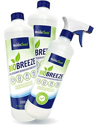 WoldoClean 2 Liter Geruchsneutralisierer Geruchsentferner Geruchskiller Geruchsstopper Enzymreiniger Katzen-Urin Geruchsvernichter Tier-Uringeruch Tierurin Hund Katze Auto + Sprayflasche