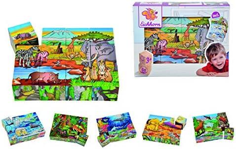 Eichhorn Eichhorn Eichhorn - 100005480 - Puzzle avec 12 blocs en Bois   Laissons Nos Produits De Base Aller Dans Le Monde  108267