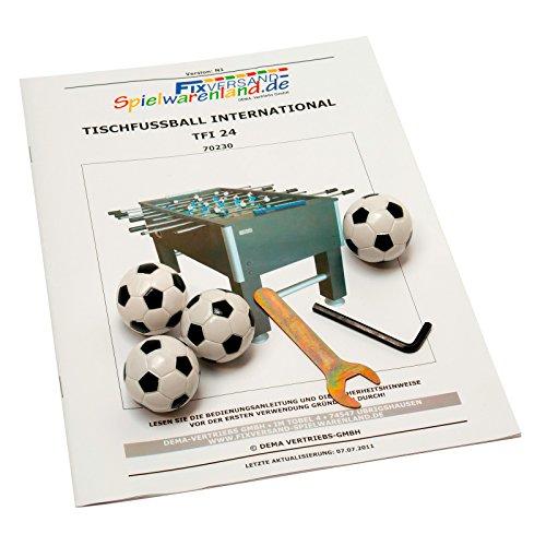 Dema Tischfussball Kicker International, schwarz, 70230 -