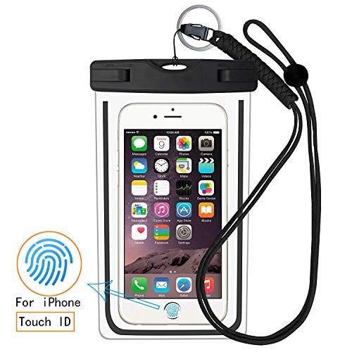 Schutzhülle Case (Wasserdicht, Universal Phone Bag Pouch Dry Bag für iPhone X, 8/7/7Plus/6S/6/6S Plus, Samsung Galaxy S9/S9Plus/S8/S8Plus/Note 8, Google Pixel 2HTC Sony bis 15,2cm, Black-vpc (Neueste Htc One M8-fall)