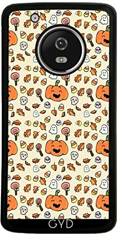 Coque Silicone pour Moto G5 Plus - Halloween Griffonne Grimaces by AnishaCreations