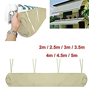 Beige Markisenabdeckung Schutzhülle für Markisen für die Lagerung im Winter (2m)