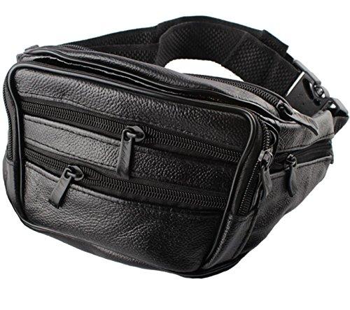 Uomo Borse Sportive Multifunzionali Cuoio Multicolore,Black-25*10*15cm Black