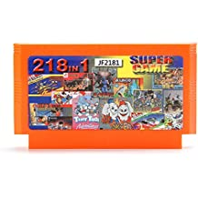 Rishil World 218 In 1 8 Bit Game Cartridge Jackal Saint Kage With Real Yellow Card For NES Nintendo FC