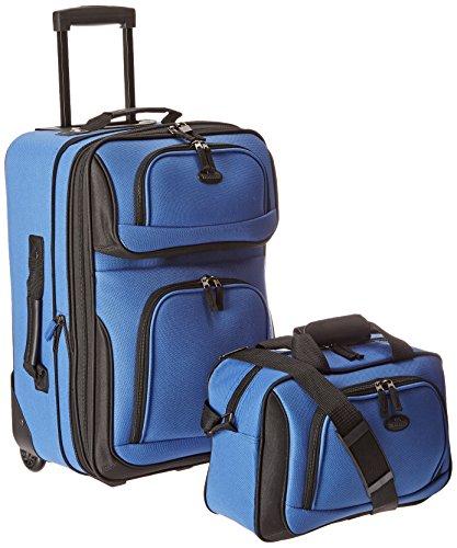 U.S. Traveler Rio Zwei Stück erweiterbar Handgepäck Set, königsblau (blau) - US5600