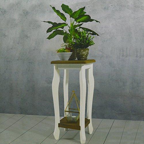 Pflanztisch Blumentisch Gartentisch Dekotisch Beistelltisch Pflanzen Tisch  Weiß