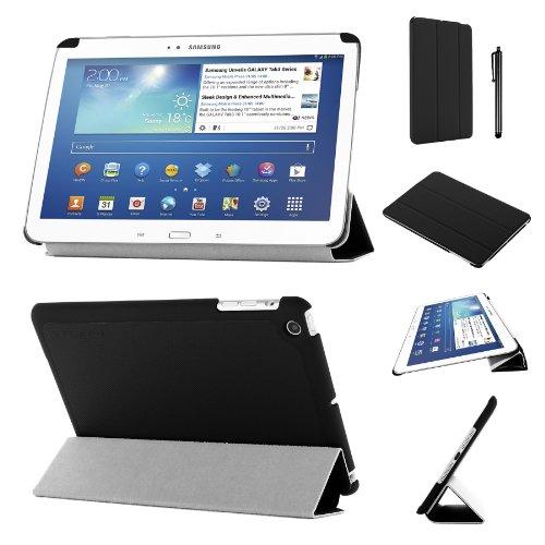 lim zusammenklappbar Multi Position Fall mit Tri Fold stehen für 17,8cm Samsung Galaxy Tab 3, Schwarz ()
