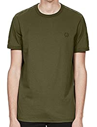 Fred Perry Tonal Taped Ringer T-Shirt In Iris Leaf