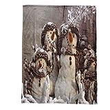 Mitlfuny Weihnachten Home TüR Dekoration 2019,Weihnachtsdecke Flanell Stoff Schlafsofa Decke 70X100CM