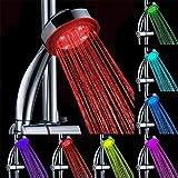CRZJ Handbrause Hochdruck LED Spontan Strom Verfärbung Dusche, Handheld Runde Geschenk Duschkopf
