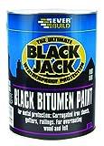 901 Black Bitumen Paint - Bituminous paint  for metal protection, overcoating wood and felt - 5L - Black