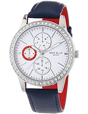 Mike Ellis New York Damen-Armbanduhr Analog Quarz Leder SL4-60227A