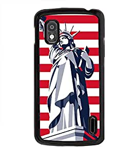 Fuson Statue of Liberty Designer Back Case Cover for LG Google Nexus 4 E960 (Abstact Art Paint Painting Illustrations)