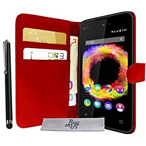 Etui housse luxe rouge portefeuille wiko sunny wiko for Housse wiko sunny 2