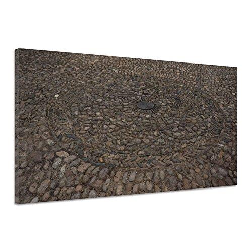 Betonpflaster Gefühl Material Kreisumfang Leinwand Poster Druck Bild cc1335 180x120