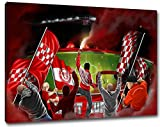 Ultras Kaiserslautern Format: 80x60, Bild auf Leinwand XL,