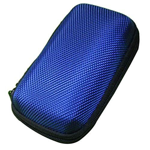 Fulltime E-Gadget Earbuds Case,Tragbare Mini-Runde Hard Storage Tasche für Kopfhörer SD TF-Karten SD-Karten Ohrhörer, Bluetooth-Headset, Kabel-Headset Mini-Case und vieles mehr (Blau)