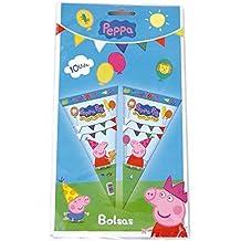 Peppa Pig - 10 bolsas cono, 20x40 cm (Verbetena 016000715)