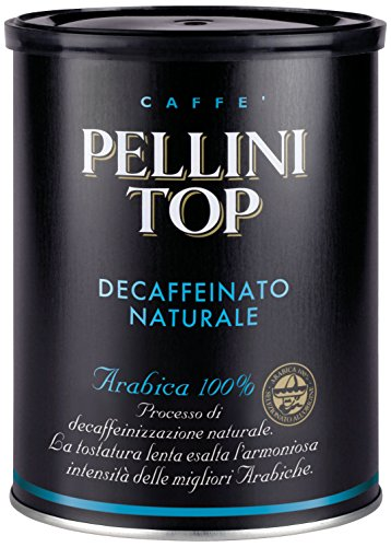 Pellini Caffè, Pellini Top Arabica 100% für Espressokanne Decaffeinato Naturale (1 x 250 g)
