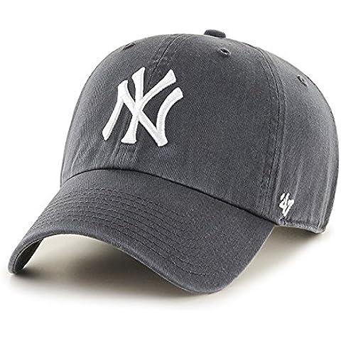 '47adultos Tapa MLB New York Yankees Clean Up, unisex, Kappe MLB New York Yankees Clean Up, charcoal, Talla