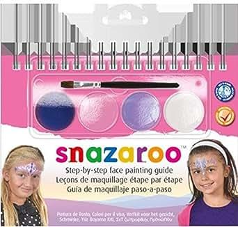 Partyrama Snazaroo Fancy de 4-Couleurs princesse-Kit peinture pour visage avec Guide étape Par étape
