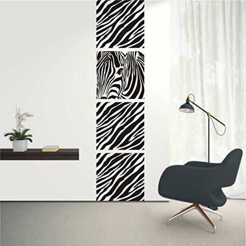 Preisvergleich Produktbild HomeTattoo ® WANDTATTOO Wandaufkleber Banner Zebra Safari Animal Wohnzimmer Flur Motiv 606 XL ( L x B ) ca. 180 x 43 cm (schwarz 070)