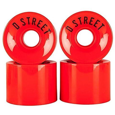 D Street Skateboard/Longboard 59 Cent Wheels 59mm 78A Red