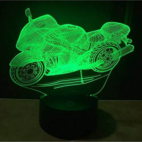 Colore Che Cambia Lampada 3D Touch Switch Moto Casco 3D Night Light Led Camera Da Letto Illuminazione Giocattoli Modello Di Moto