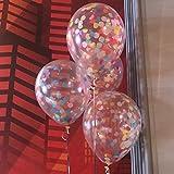 findfun 30,5cm Rainbow Bright Konfetti Luftballons für Party Dekoration (12Stück)