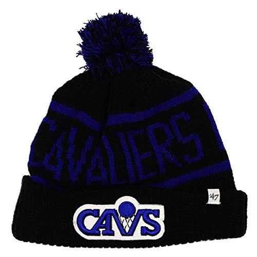 47 Brand Calgary Cuff Beanie Mütze POM POM - NBA Cuffed Knit Cap, Herren, Cleveland Cavaliers - Black -