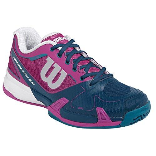 Wilson rush pro 2.0W chaussures de tennis mixte adulte Mauve-Marine