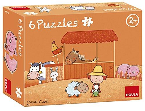 Goula - 53434 - Toy Prima Era - Puzzle La Ferma Di Carla - 6 pezzi