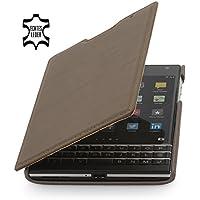 StilGut Book Type Case, dünne Hülle Leder-Tasche für BlackBerry Passport. Seitlich klappbares Flip-Case aus Echtleder für BlackBerry Passport, Sepiabraun Nappa