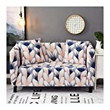 WUFANGFF Slipcover Warme Farbe Blumenmuster Stretch Sofa Chemiefasergewebe Slipcover Couch Covers Sofa Furniture Protector, 2Seat