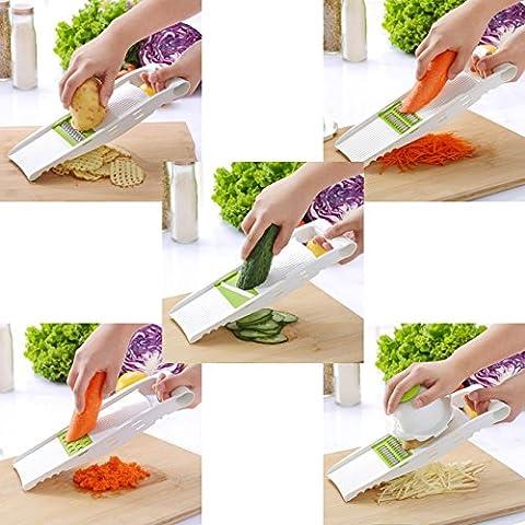 Slicer,GWCLEO Vegetable Slicer-Food Slicer-Vegetable Cutter-Vegetable Slicer with Surgical,Slicer Stainless Steel Vegetable Julienne Slicer, 4-Blade Slicer Set.