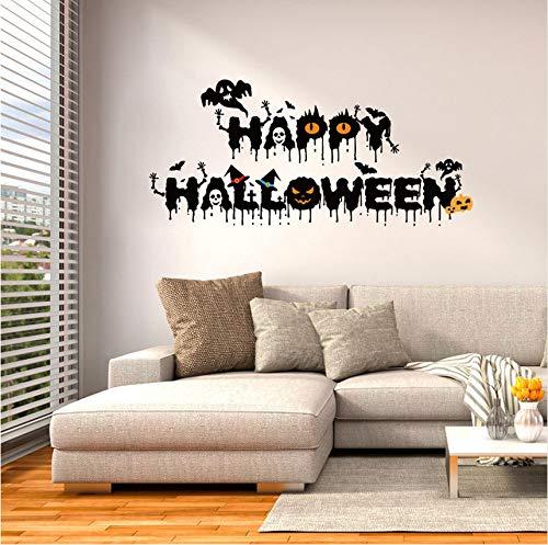 Wuyyii Happy Halloween Home Haushalt Zimmer Wandaufkleber Wandbild Dekor Aufkleber Abnehmbare New Halloween Dekoration Horror Haus Yard