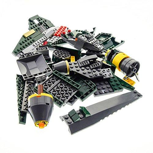 Preisvergleich Produktbild 1 x Lego System Teile Set Modell für Star Wars Clone Wars 7930 Bounty Hunter Assault Gunship Raumschiff dunkel grün grau Incomplete unvollständig