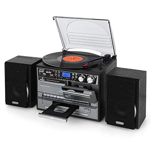Auna TC-386 - Equipo de música Tocadiscos , Minicadena Hi-fi , Radiocasete...