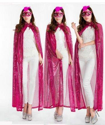 Beauty - bekleidung abend umhang Champions Awards umhang - Bühne - farb - pailletten - umhang göttin kostümen(Rosa Pailletten (Des Kostüm Göttin Todes)