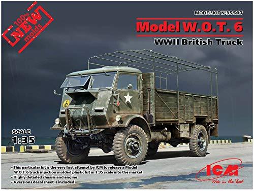 ICM 35507 Model W.O.T.6,WWII British Truck - Maqueta de camión, Color Gris