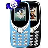 IKALL K31 Basic Feature Mobile Phone (Sky Blue And Black, 64MB) - Pack Of 2