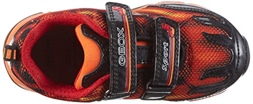 Geox J Android A, Sneakers Basses Garçon Orange (Orange/blackc0569)