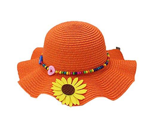 schon-sommer-stroh-strand-sonnenblume-orange-madchen-hut