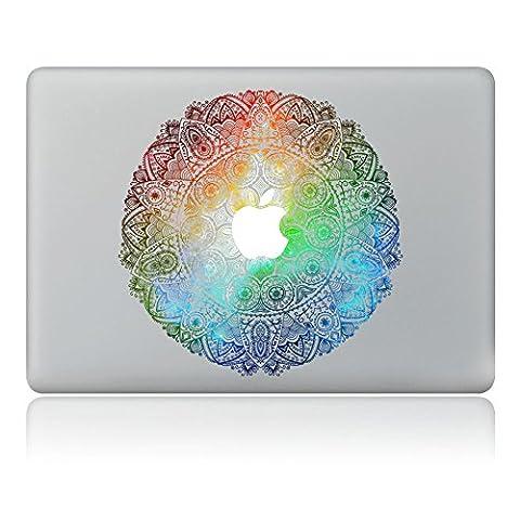 Macbook Skin Aufkleber, Morbuy abnehmbare Kunst Creative Anti-Kratz-Beschichtung Skin Vinyl Schutz MacBook Aufkleber Pro 13 A1706 / A1708 ( Touch Bar /Non Touch Bar) (Farbe (Blumen Lichtschalter Covers)