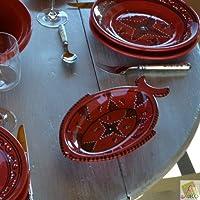 Pesce piatto, tatuato, colore: rosso, lunghezza: 40 cm