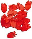 Quantum Mr Pike Spotty rot - 20 Köderstopper Fähnchen zum Köderfischangeln auf Hecht, Optischer Reiz zum Köderfisch Hechtangeln