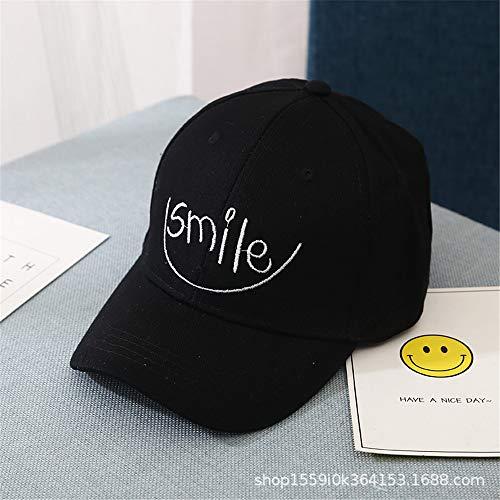und Sommer koreanische Kinder Hut Mode Lächeln Stickerei Brief Baseballmütze Jungen und Mädchen Kappe 1 56-62cm ()